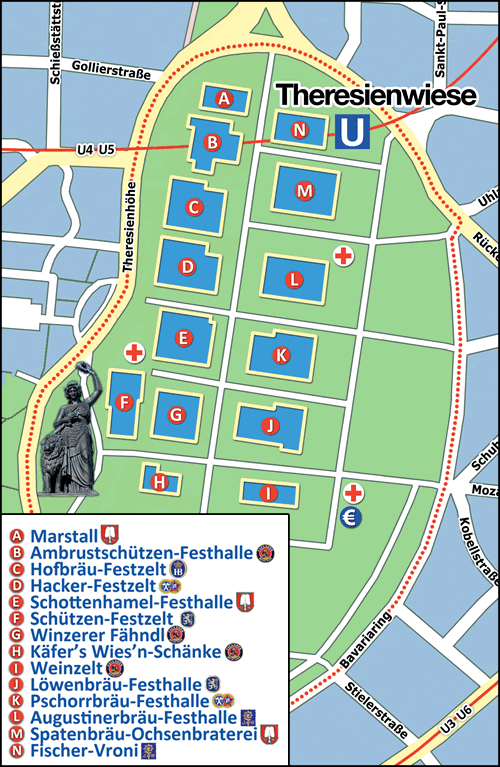Map of the Wiesn